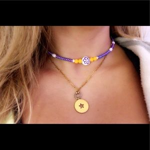 Brandy Melville Jewelry - purple flower charm necklace
